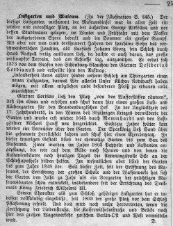 Berlin, Lustgarten und Museum um 1840, Kommentar