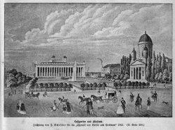 Berlin, Lustgarten und Museum um 1840, A0140