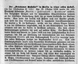Berlin, Potsdamer Bahnhof um 1840, Kommentar