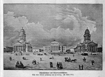 Berlin, Schauspielhaus und Gendsd´armenthürme, A0141