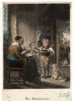 William Colley Wrankmore, Die Geduldprobe, Stahlstich, nach H. Kretzschmer, D2125