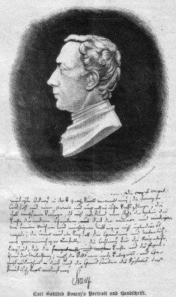 Carl Gottlieb Svarez`s Portrait und Handschrift