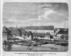 Berlin, Alter Packhof auf dem Werder um 1790, A0152