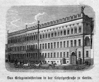 Berlin Kriegsministerium Leipzigerstraße um 1885, A0155
