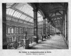 Berlin, Lichthof im Kunstgewerbemuseum um 1885, A0150