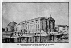 Berlin, Opernhaus, Neustädterbrücke und Hedwigskirche um 1785, A0149