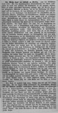 Berlin, Weißer Saal im Schloss um 1877, Kommentar