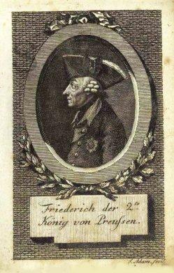 """Jakob Adam (1748-1811), Kupferstich, """"Friedrich der 2te, König von Preußen"""", A0161"""