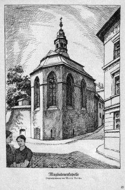 Albert Moritz Rusche (1888-1969) Magdeburg, Magdalenenkapelle, Zeichnung 1928, ⁄161, S. 45⁄