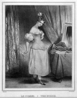Alfred Leon Lamercier, La Corset, Lithographie nach Deveria, A0173