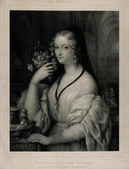Alphonse-Léon Noël (1807-1884), Lithographie, Novize der barmherzigen Schwestern, A0175