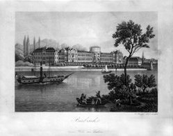 Heinrich Zollinger (1821-1891), Aquatinta-Radierung, Biebrich, D1588-2