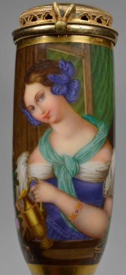 Johann Nepomuk Ender  (1793-1854), Die Blumenkanne, Porzellanmalerei, Pfeifenkopf, D2188