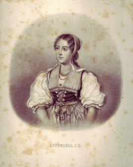 Joseph Johann Sutter (1781-1866), Lithographie, Appenzell.i.R., D1194-3