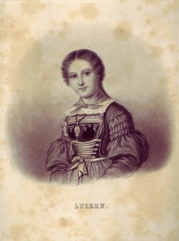 Joseph Johann Sutter (1781-1866), Lithographie, Luzern, D1194-2