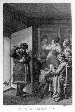 Josephine Langen (1760-1843), Aegyptische Nächte Nr. 1, Kupferstich nach Ramberg, A0165