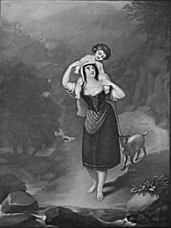 KPM 193 – Bäuerin mit Amor auf der Schulter, nach H. HowardKPM 193 - Bäuerin mit Amor auf der Schulter