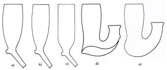 Abb. 1 Pfeifenkopfformen Nathusius mit Buchstaben