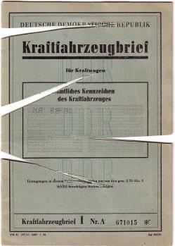 Kfz-Brief SPW S1