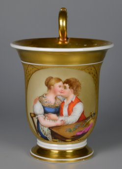 Vergißmeinnicht, Porzellanmalerei, Tasse, D2173