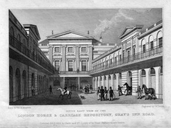 W.Deeble, Engraved 1828: London Horse & Carriage Repository, Gray´s Inn Road, D2180