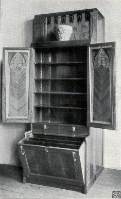 Albin Müller, Bücher-Schrank 1904