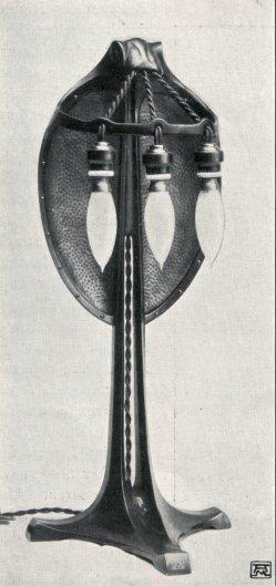 Albin Müller, Reflektor-Lampe 1904