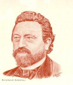 Bernhard Schäffer (1823-1877), Halbportrait, Zeichnung, D0088-1