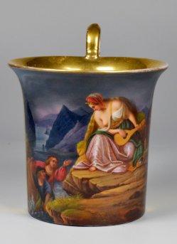 Carl Joseph Begas (1794 – 1884), Die Lureley, Porzellanmalerei, Tasse, D2192