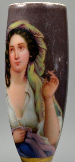 Junge Raucherin, Porzellanmalerei, Pfeifenkopf, D2191