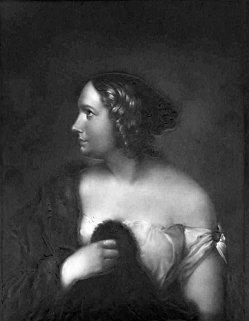 Lithophanie, Meißen 176 - Mad. Schröder-Devrient