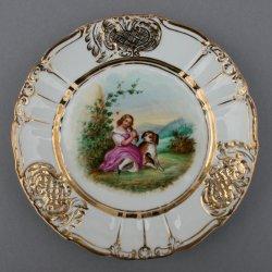 Mein kleiner Liebling, Porzellanmalerei, Zierteller, D0736-10