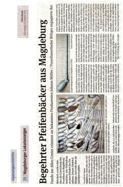 23.10.2014 Begehrter Pfeifenbäcker aus Magdeburg
