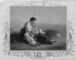 """Albert Henry Payne (1812-1902), Stahlstich, """" Die Schifferin"""", nach Riedel, D2205-1"""