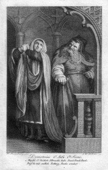 """Amadeus Wenzel Böhm (1769-1823), Kupferstich, """"Demetrius 2.Aufz, 1.Szene"""", nach Ramberg, D2206-3"""