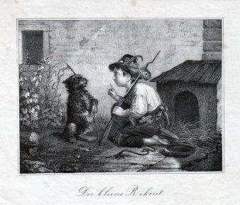Der kleine Rekrut, Lithographie nach F.Dürck, D1642