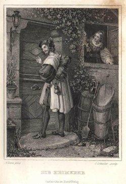 Eduard Schuler (1806-1882), Die Heimkehr, Stahlstich nach Nerenz, A0189