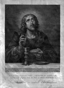 Gottfried Wilhelm Lehmann (1799-1882), Den Verehrern des wahren Christentums, Kupferstich nach C. Dolci, D1854