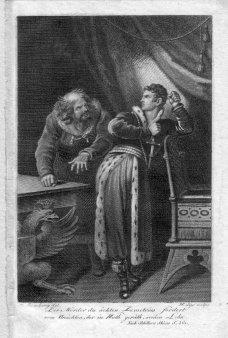 "Johann Heinrich Lips (1758-1817), Kupferstich, ""Demetrius -Schillers Skizze S.361"" nach Ramberg, D2206-2"