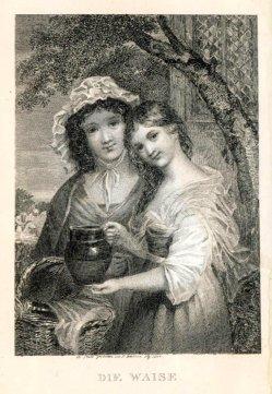 Johann Philipp Walter (1798-1868), Die Waise, Stahlstich, A0188