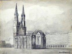 Karl Friedrich (1898-1989), St.-Ulrich-und-Levin-Kirche, Februar 1956, D0426