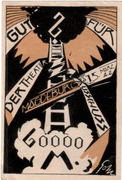 Oswald Pohl (1887-1959), Der Theaterausschuss Magdeburg, den 15.März 1922, D2208-1v