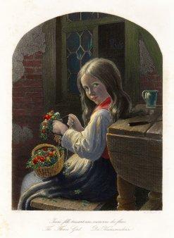 Albert Henry Payne (1812-1902), Die Kranzwinderin, Stahlstich nach J.G.Meyer, D2227