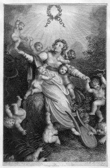 Amadeus Wenzel Böhm (1771-1823), Jungfrau mit Amoretten, Kupferstich nach Ramberg, D2246-2