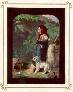 Anna Marie, kolorierter Stahlstich nach Landseer, D2232