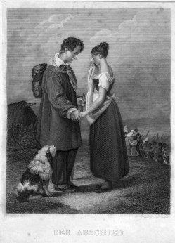 Eduard Schuler (1806-1882), Der Abschied, Stahlstich nach J.Beaume, D2241