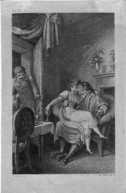 Heinrich Friedrich Thomas Schmidt (1780-nach 1829), Gestörte Romanze, Kupferstich nach Ramberg, D2246-4