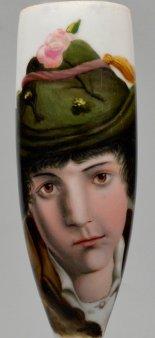 Kopf einer Tirolerin, Porzellanmalerei, Pfeifenkopf, D2223