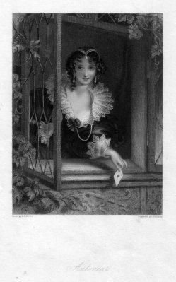W.H.Mote, Antonia, Radierung nach E.T.Parris, D2244-4