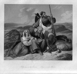 Albert Henry Payne (1812-1902), Pilger in der Wüste, Stahlstich nach H. Stilke, D2274